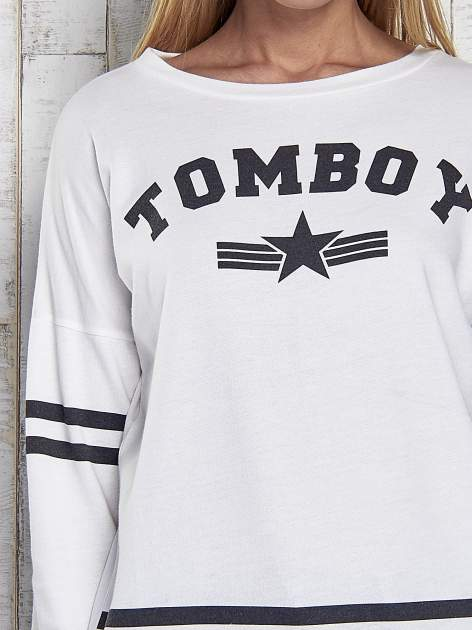 Ecru bluza z napisem TOMBOY                                  zdj.                                  6