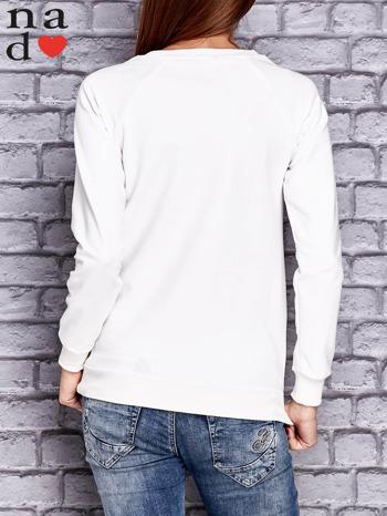 Ecru bluza z naszywkami                                  zdj.                                  2