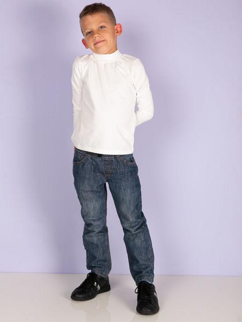 Ecru bluzka dziecięca z półgolfem                               zdj.                              7