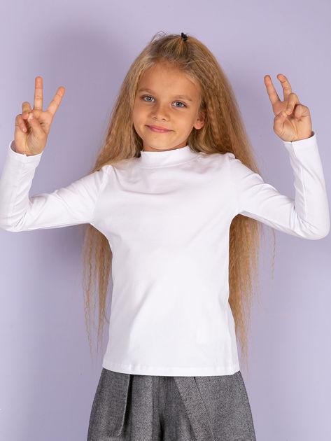 Ecru bluzka dziecięca z półgolfem                               zdj.                              10