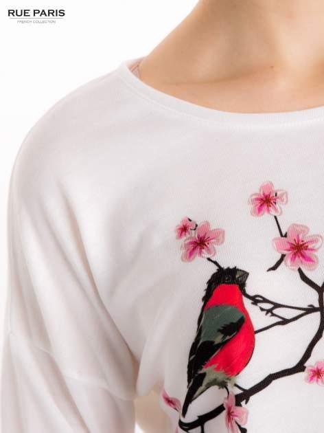 Ecru bluzka z floral printem                                  zdj.                                  6