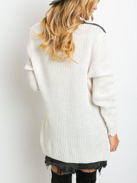 Ecru-ciemnoszary sweter Latina                              zdj.                              2