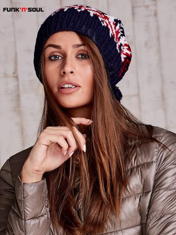 Ecru czapka w norweskie wzory FUNK N SOUL                                  zdj.                                  4