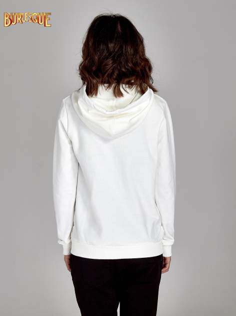 Ecru damska bluza z kapturem i napisem SEATLE 1990
