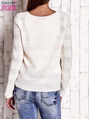 Ecru dziergany sweter                                   zdj.                                  4