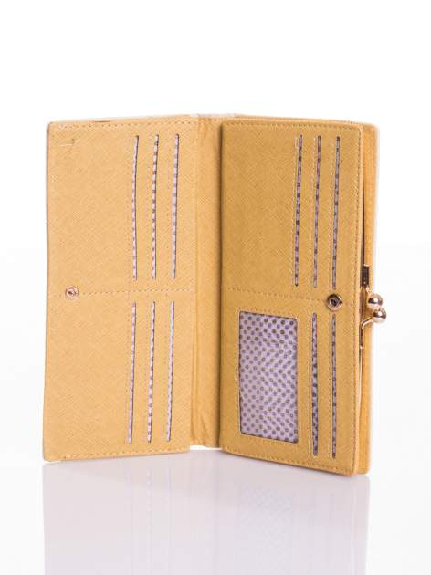 Ecru elegancki portfel na bigiel                                  zdj.                                  3