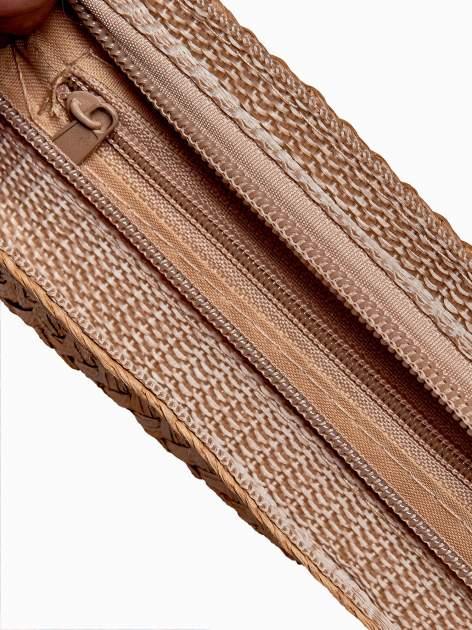 Ecru listonoszka ze słomkową górą                                  zdj.                                  5