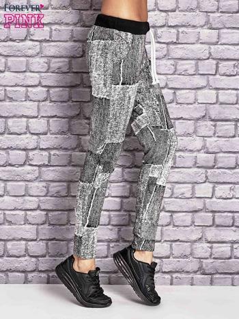 Ecru ocieplane spodnie dresowe                                   zdj.                                  3