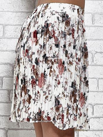 Ecru plisowana spódnica w kwiaty                                  zdj.                                  6
