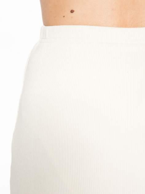 Ecru spódnica midi z suwakiem z przodu                                  zdj.                                  6