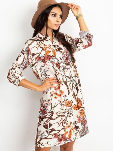 Ecru sukienka Beverly                              zdj.                              3
