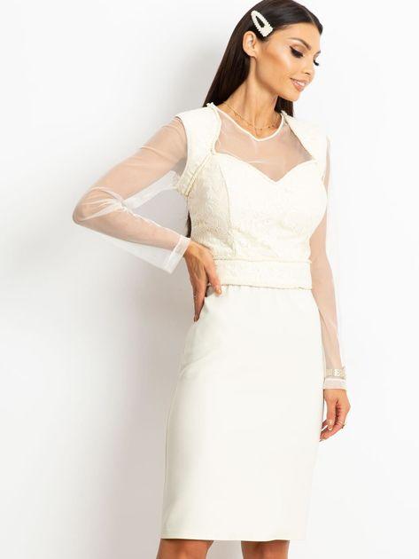 Ecru sukienka Moment                              zdj.                              1