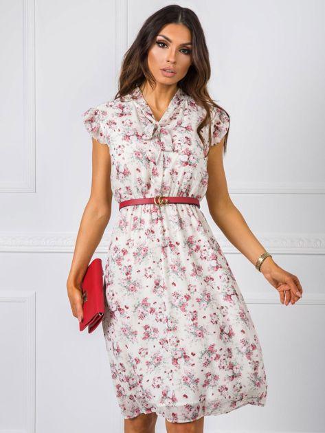 Ecru sukienka Smile RUE PARIS