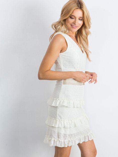 Ecru sukienka Versatility                              zdj.                              3