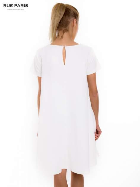Ecru sukienka rozkloszowana dzwonek                                  zdj.                                  4