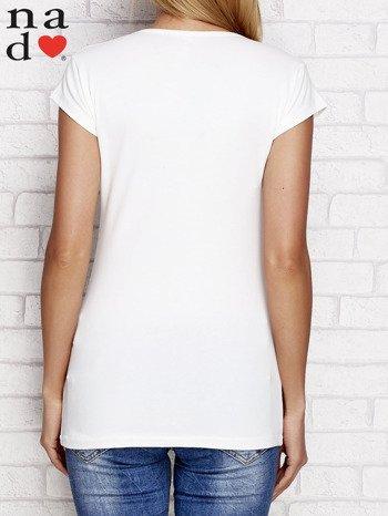 Ecru t-shirt W PRACY NAJBARDZIEJ LUBIĘ PIĄTEK I WYPŁATĘ
