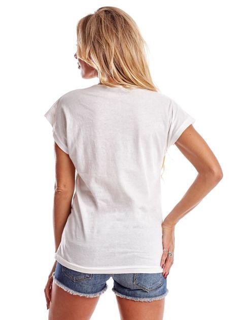 Ecru t-shirt damski ROMANTIC                              zdj.                              2