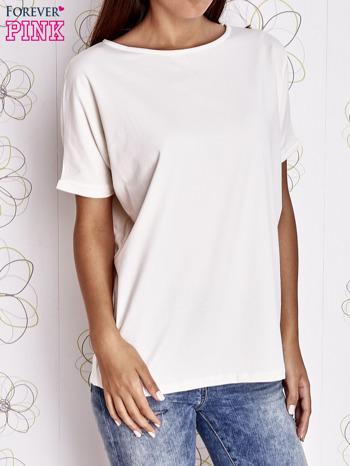 Ecru t-shirt oversize                                  zdj.                                  1