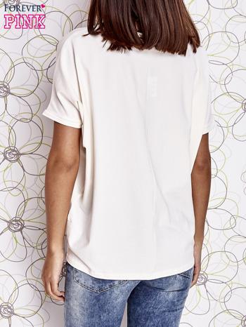 Ecru t-shirt oversize                                  zdj.                                  5