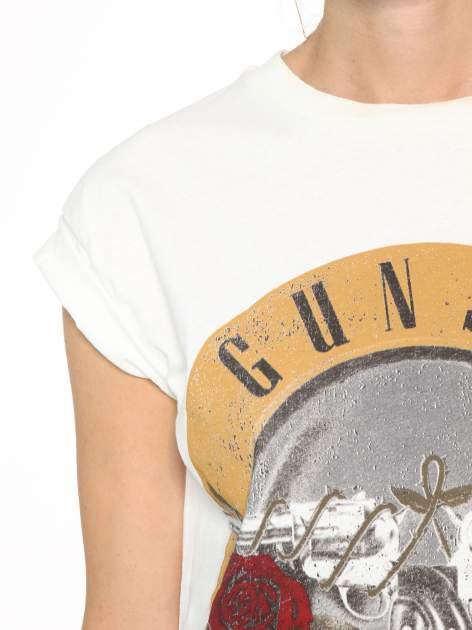 Ecru t-shirt z nadrukiem GUNS N' ROSES                                  zdj.                                  6