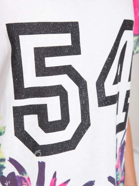 Ecru t-shirt z nadrukiem HEAVEN 54 w stylu eclectic                                  zdj.                                  7