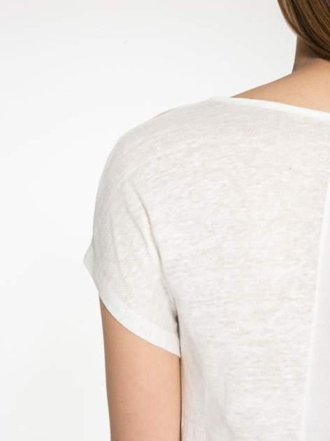 Ecru t-shirt z nadrukiem UNIVERSITY FORVER                                  zdj.                                  9