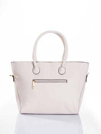 Ecru torba shopper efekt saffiano                                  zdj.                                  2