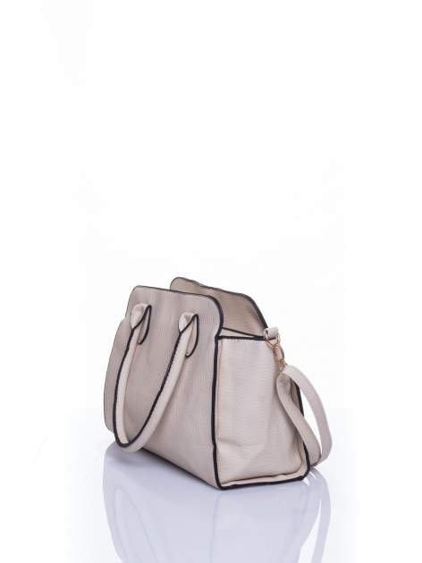 Ecru torba z klamrami z odpinanym paskiem                                  zdj.                                  4