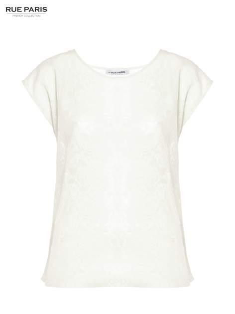 Ecru transparentna koszula                                  zdj.                                  2