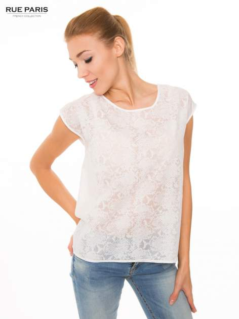 Ecru transparentna koszula                                  zdj.                                  1