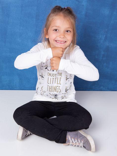 Ecru tunika dla dziewczynki z nadrukiem