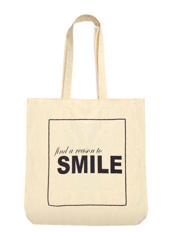 Ekotorba na zakupy z nadrukiem FIND A REASON TO SMILE
