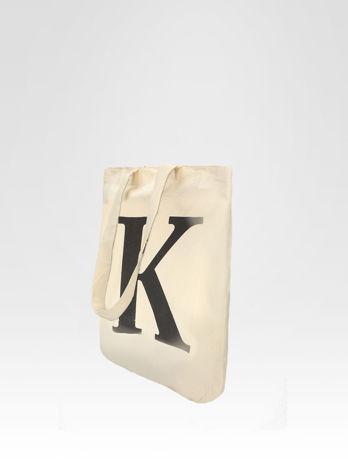 Ekotorba na zakupy z nadrukiem litery K                                  zdj.                                  3