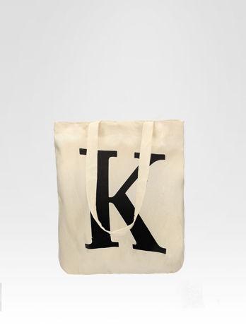 Ekotorba na zakupy z nadrukiem litery K