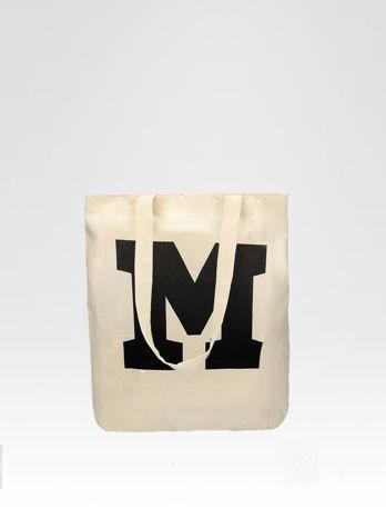 Ekotorba na zakupy z nadrukiem litery M