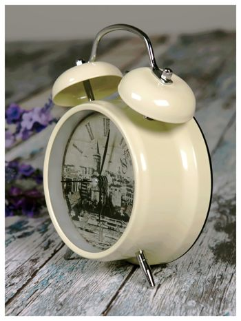 Elegancki i skuteczny :) BUDZIK zegarek stojący z lampką RETRO                                   zdj.                                  1