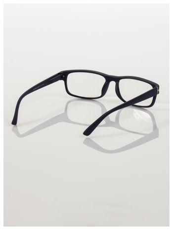 Eleganckie czarne matowe korekcyjne okulary do czytania +3.0 D  z sytemem FLEX na zausznikach                                  zdj.                                  4