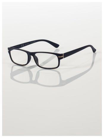 Eleganckie czarne matowe korekcyjne okulary do czytania +3.5 D  z sytemem FLEX na zausznikach