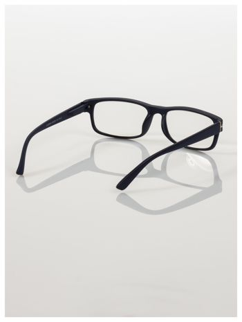 Eleganckie granatowe matowe korekcyjne okulary do czytania +1.0 D  z sytemem FLEX na zausznikach                                  zdj.                                  4