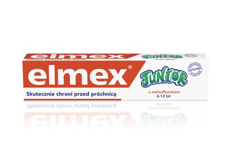 """Elmex Pasta do zębów dla dzieci Junior 6-12 lat DUO druga 50%   75mlx2"""""""