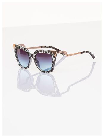 FASHION leopard okulary przeciwsłoneczne KOCIE OCZY stylizowane na FENDI                                  zdj.                                  2