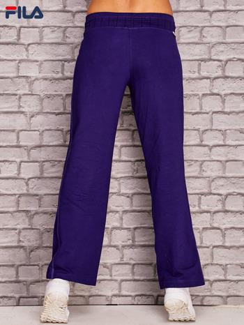 FILA Fioletowe spodnie dresowe z troczkami
