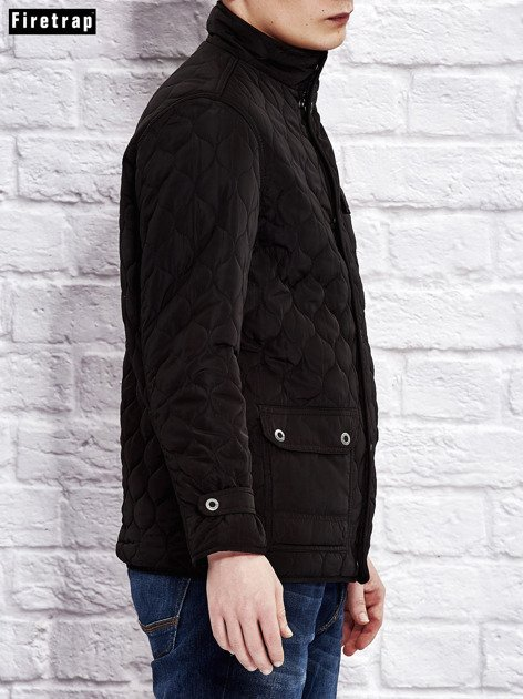 FIRETRAP Czarna pikowana kurtka dla chłopca                              zdj.                              9