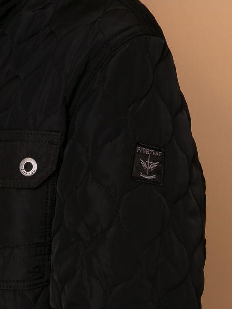 FIRETRAP Czarna pikowana kurtka dla chłopca                              zdj.                              4