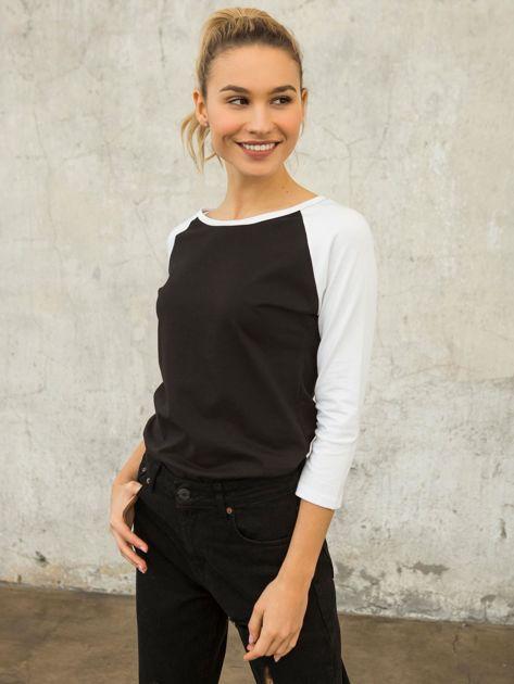 FOR FITNESS Czarno-biała bluzka Chloe
