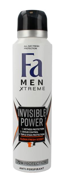 "Fa Men Xtreme Invisible Power 72H Dezodorant w sprayu 150ml"""