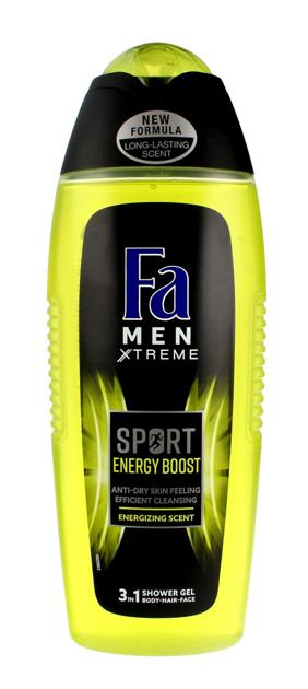 "Fa Men Xtreme Sport Energy Boost Żel pod prysznic 3w1 400 ml"""