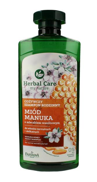 """Farmona Herbal Care Szampon rodzinny odżywczy Miód Manuka  500ml"""""""