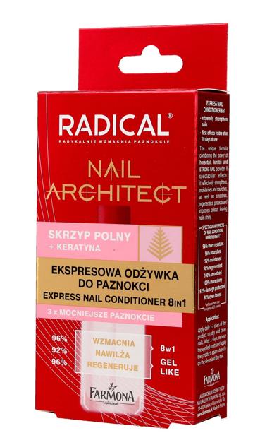 """Farmona Radical Nail Architect Ekspresowa Odżywka do paznokci 8in1  12ml"""""""
