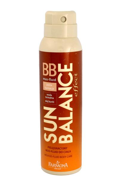 """Farmona Sun Balance Mus-Fluid BB pielęgnacyjny do ciała - jasna karnacja   spray  150ml"""""""